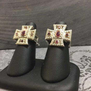 garnet-iron-cross-rings
